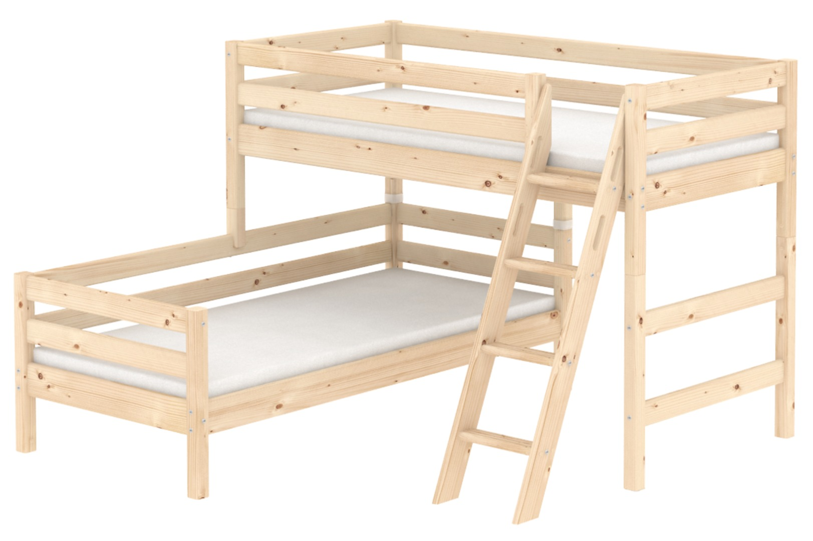 Verzauberkunst Flexa Mittelhohes Bett Ideen Von Classic Kombibett Mit Neuer Schrägleiter Mit Integrierten