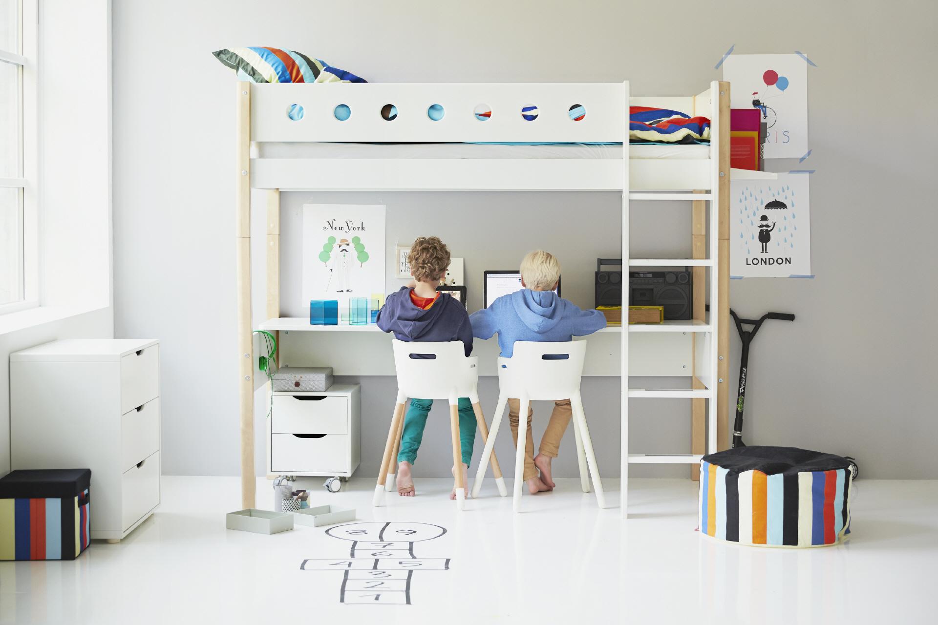 Hochbett Oberkanten Höhe Bei Flexa Ist 185cm Empfiehlt Se Für Kinder Ab Einem Alter Von 6 Jahren Unter Sem Stehen Ca 2 Qm